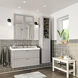GODMORGON ГОДМОРГОН / RÄTTVIKEN РЕТТВІКЕН, Меблі для ванної кімнати, набір 5шт, КАШЕН світло-сірий, HAMNSKÄR, фото 2