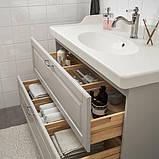 GODMORGON ГОДМОРГОН / RÄTTVIKEN РЕТТВІКЕН, Меблі для ванної кімнати, набір 5шт, КАШЕН світло-сірий, HAMNSKÄR, фото 3