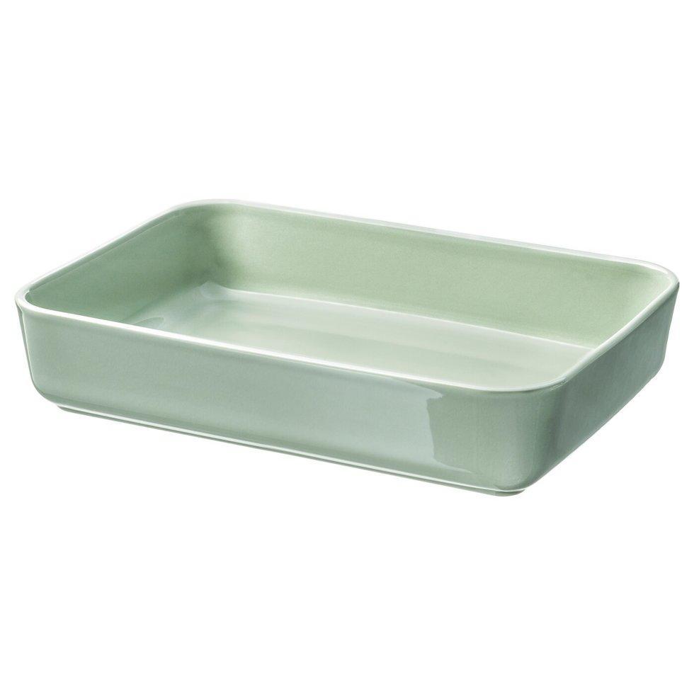 LYCKAD ЛЮККАД, Блюдо/форма для випікання, зелений31x21 см