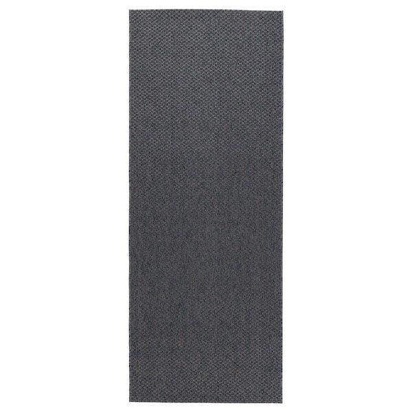 MORUM МОРУМ, Килим, пласке плетіння, приміщ/вул, темно-сірий80x200 см