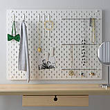 SKÅDIS СКОДІС, Комбінація перфорованої дошки, білий76x56 см, фото 2