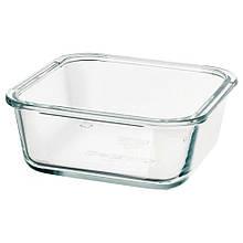 IKEA 365+, Харчовий контейнер, квадратна форма, скло600 мл