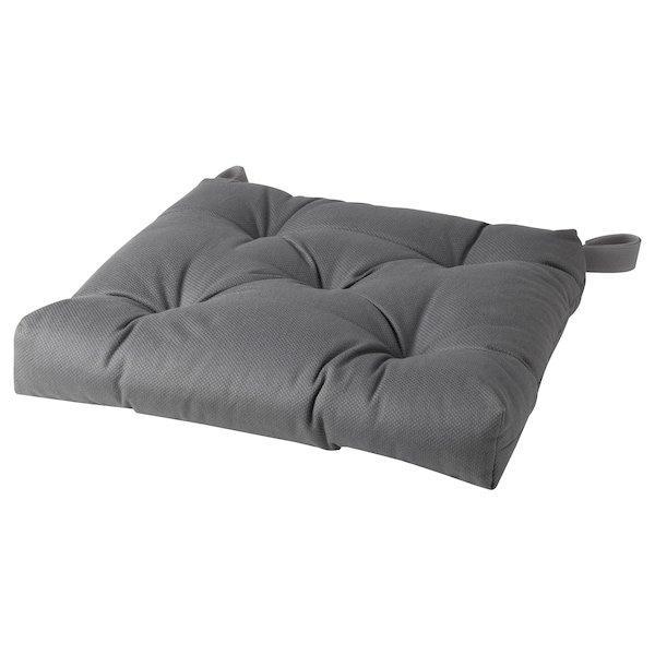 MALINDA МАЛІНДА, Подушка на стілець, сірий40/35x38x7 см