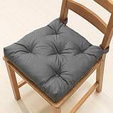 MALINDA МАЛІНДА, Подушка на стілець, сірий40/35x38x7 см, фото 2