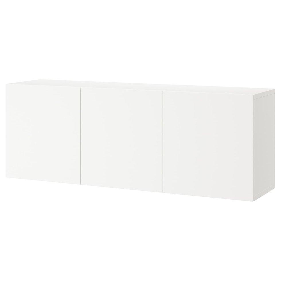 BESTÅ БЕСТО, Настінна комбінація шаф, білий, ЛАППВІКЕН білий180x42x64 см