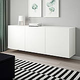 BESTÅ БЕСТО, Настінна комбінація шаф, білий, ЛАППВІКЕН білий180x42x64 см, фото 2