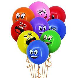Повітряні кульки-сердечка, кульки цифри, фігурні кульки...