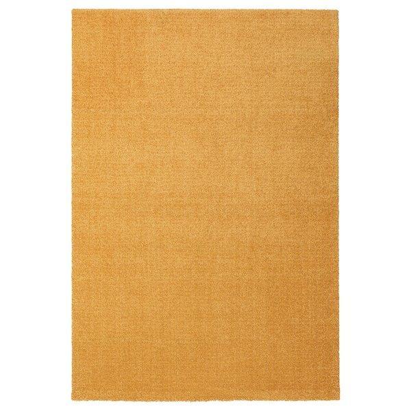 LANGSTED ЛАНГСТЕД, Килим, короткий ворс, жовтий133x195 см