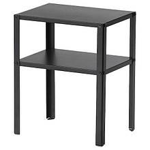 KNARREVIK КНАРРЕВІК, Приліжковий столик, чорний37х28 см