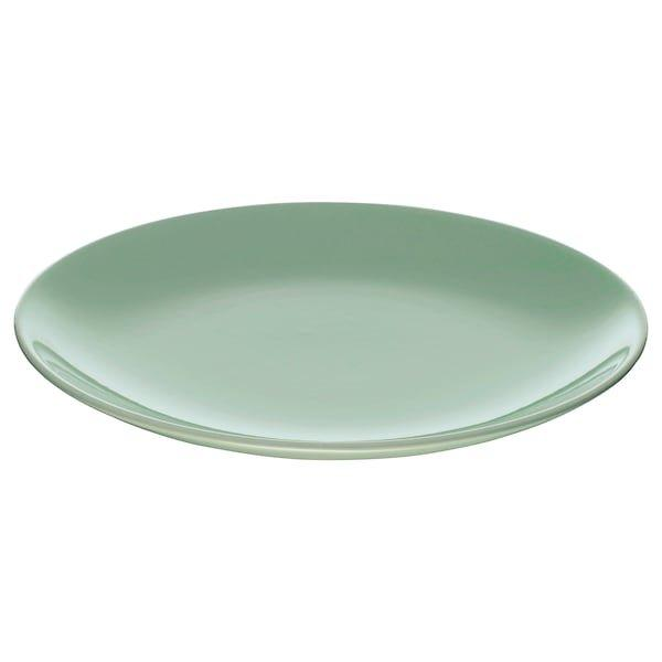 FÄRGRIK ФЕРГРІК, Тарілка десертна, світло-зелений21 см