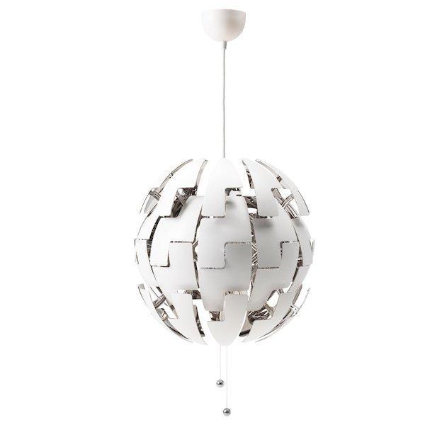 IKEA PS 2014 ІКЕА ПС 2014, Світильник підвісний, білий, сріблястий52 см