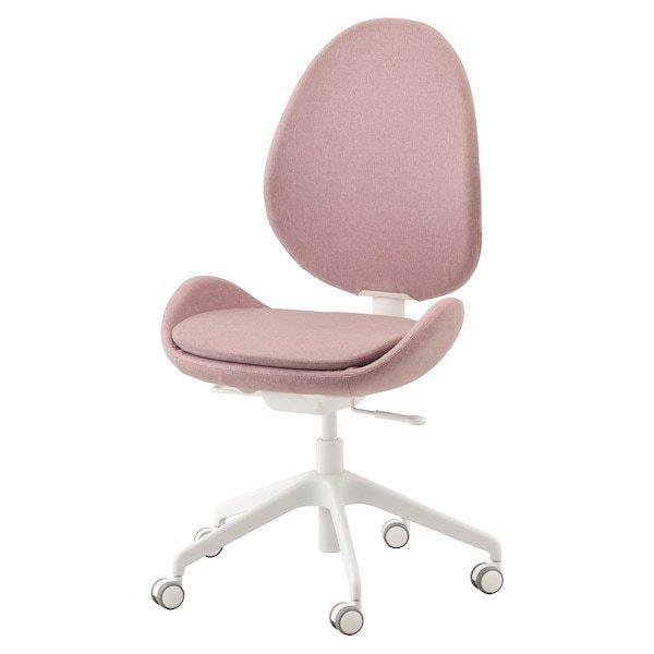 HATTEFJÄLL ХАТТЕФЙЕЛЛЬ, Офісний стілець, ГУННАРЕД світлий коричнево-рожевий