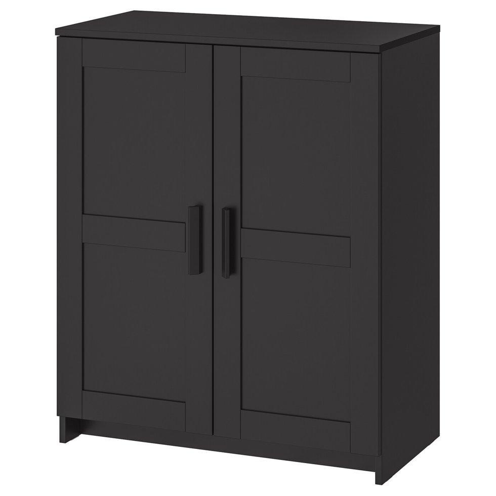 BRIMNES БРІМНЕС, Шафа з дверцятами, чорний78x95 см