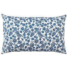 SÅNGLÄRKA СОНГЛЕРКА, Подушка, квітка, синій білий65х40 см