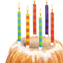 Свічки для торта, плаваючі свічки, свічки фонтани для дня народження
