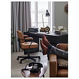 MALM МАЛЬМ, Письмовий стіл, чорно-коричневий140x65 см, фото 2