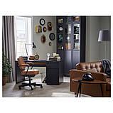 MALM МАЛЬМ, Письмовий стіл, чорно-коричневий140x65 см, фото 3