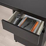 MALM МАЛЬМ, Письмовий стіл, чорно-коричневий140x65 см, фото 4