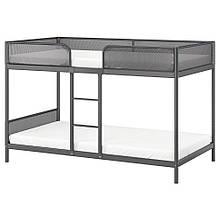 TUFFING ТУФФІНГ, Каркас 2-ярусний ліжка, темно-сірий90х200 см