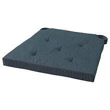 JUSTINA JUSTINA ЮСТІНА, Подушка для стільця, темно-синій, смугастий35/42x40x4.0 см