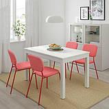 LANEBERG ЛАНЕБЕРГ, Розкладний стіл, білий130/190x80 см, фото 2