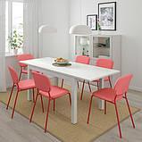 LANEBERG ЛАНЕБЕРГ, Розкладний стіл, білий130/190x80 см, фото 3