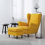 STRANDMON СТРАНДМОН, Крісло з підголівником, СКІФТЕБУ жовтий, фото 2