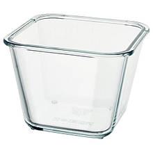 IKEA 365+, Харчовий контейнер, квадратна форма, скло1.2 л