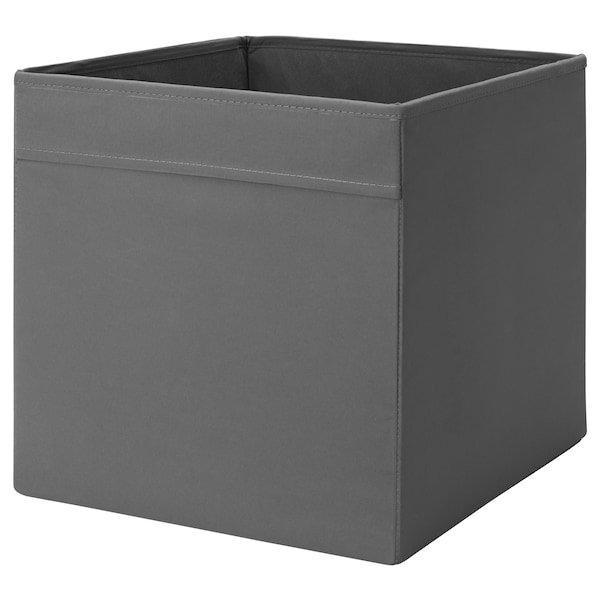 DRÖNA ДРЕНА, Коробка, темно-сірий33x38x33 см