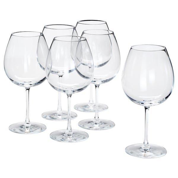 STORSINT СТОРСІНТ, Келих для червоного вина, прозоре скло 67 сл / 6 штук