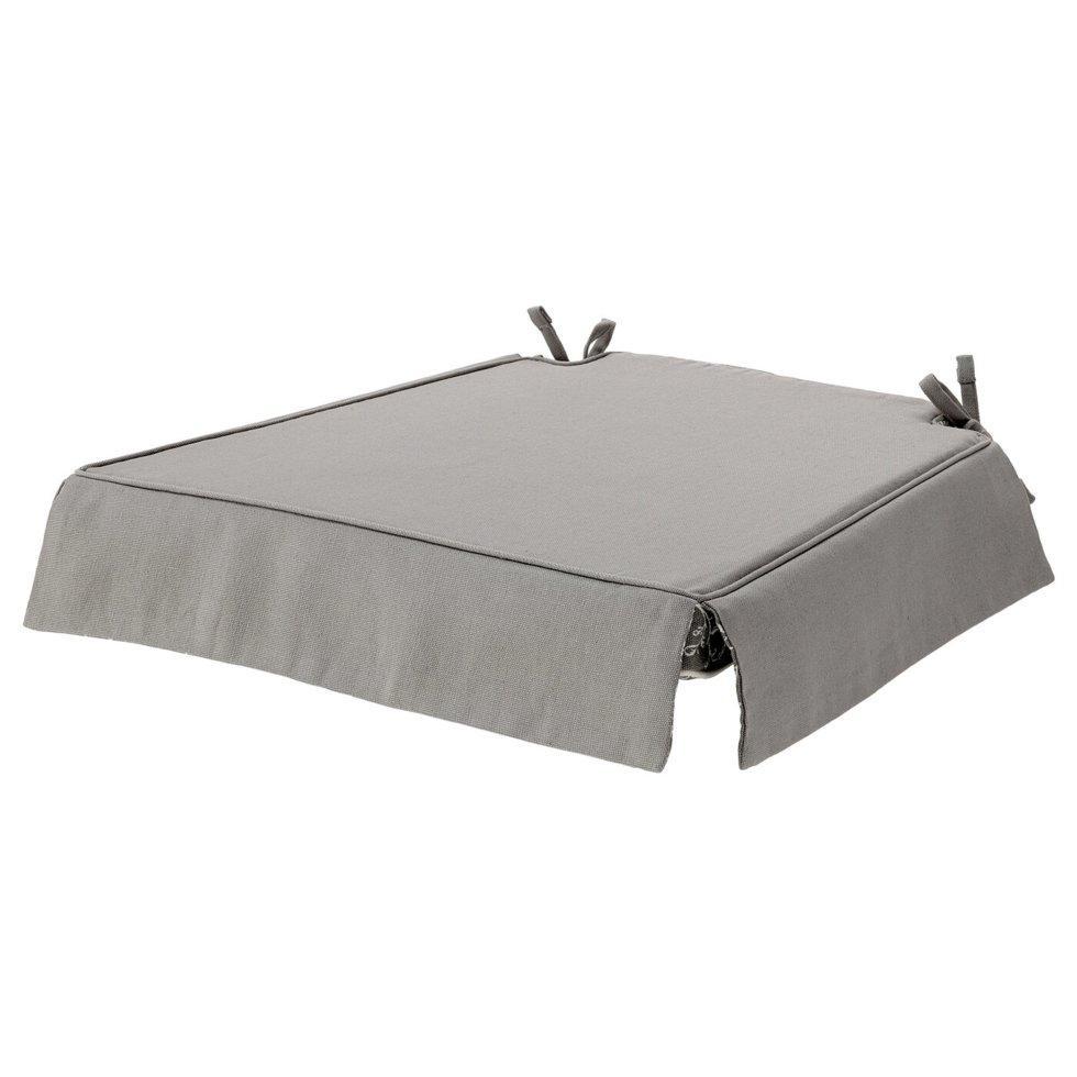 ELSEBET ЕЛЬСЕБЕТ, Подушка на стілець, сірий43x42x4.0 см