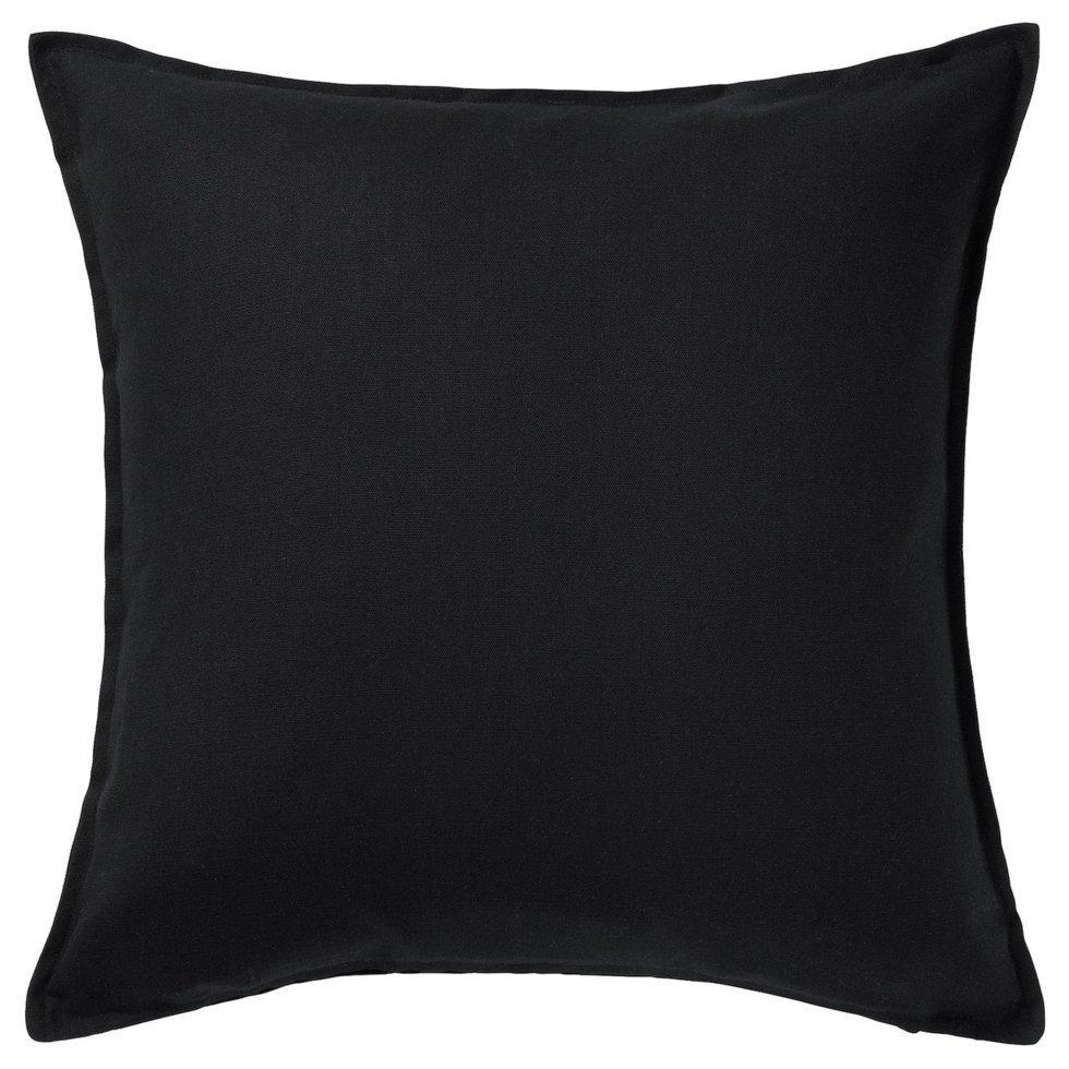GURLI ГУРЛІ, Чохол для подушки, чорний50x50 см