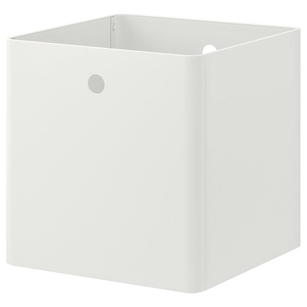 KUGGIS КУГГІС, Коробка для зберігання, білий30x30x30 см