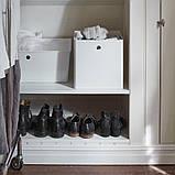 KUGGIS КУГГІС, Коробка для зберігання, білий30x30x30 см, фото 3