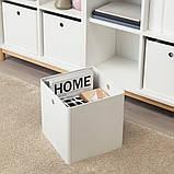 KUGGIS КУГГІС, Коробка для зберігання, білий30x30x30 см, фото 5