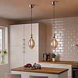 ROLLSBO РОЛЛЬСБУ, LED лампа E27 200 лм, регулювання яскравості в формі кулі, сіре скло180 мм, фото 2