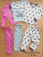 Пижама теплая детская 7-9 лет. Оптом. Турция