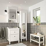 HEMNES ХЕМНЕС / RÄTTVIKEN РЕТТВІКЕН, Меблі для ванної кімнати, набір 5шт, білий, RUNSKÄR РУНШЕР змішувач62 см, фото 2