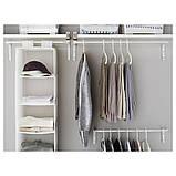 MULIG МУЛІГ, Штанга для одягу, білий60-90 см, фото 2