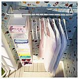 MULIG МУЛІГ, Штанга для одягу, білий60-90 см, фото 5