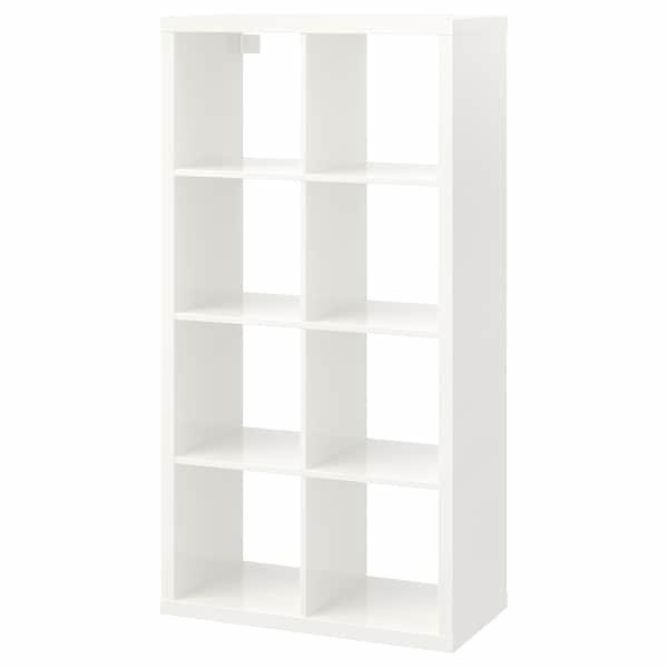 KALLAX КАЛЛАКС, Стелаж, глянцевий білий 77x147 см