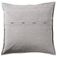 KRISTIANNE КРІСТІАНН, Чохол для подушки, білий, темно-сірий смугастий50x50 см