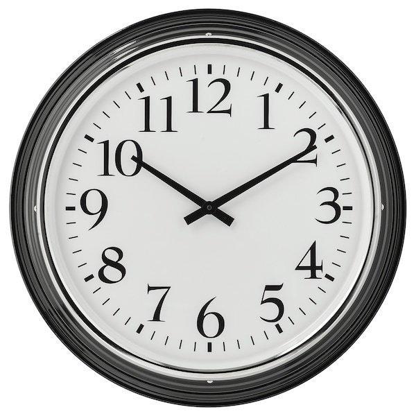 BRAVUR БРАВУР, Годинник настінний, чорний, Діаметр: 59 см