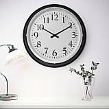 BRAVUR БРАВУР, Годинник настінний, чорний, Діаметр: 59 см, фото 2