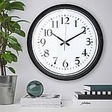 BRAVUR БРАВУР, Годинник настінний, чорний, Діаметр: 59 см, фото 4
