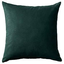 SANELA САНЕЛА, Чохол для подушки, темно-зелений50x50 см