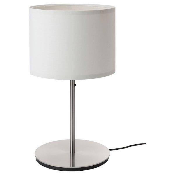 RINGSTA РІНГСТА / SKAFTET СКАФТЕТ, Лампа настільна, білий, нікельований56 см