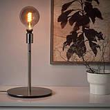 ROLLSBO РОЛЛЬСБУ, LED лампа E27 200 лм, регулювання яскравості, круглий сірий прозоре скло125 мм, фото 3