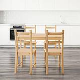 INGO ІНГО / IVAR ІВАР, Стіл+4 стільці, сосна120 см, фото 2