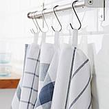ELLY ЕЛЛІ, Рушник кухонний, білий, синій 50x65 см / 4 шт, фото 2